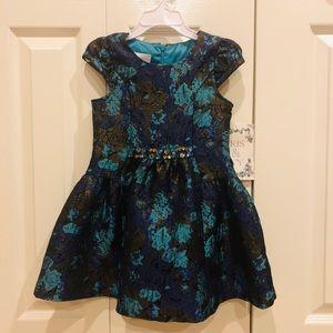 NWT - Iris & Ivy - Floral Print and Jewel Dressed